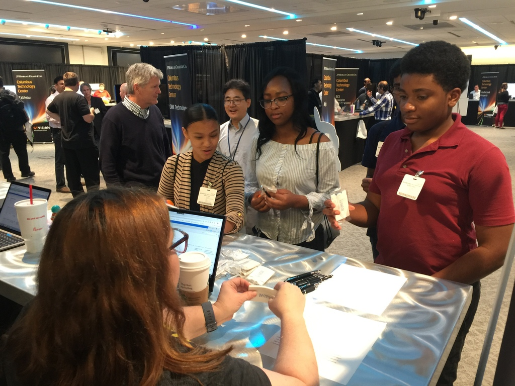 Students at Chase Coding Event