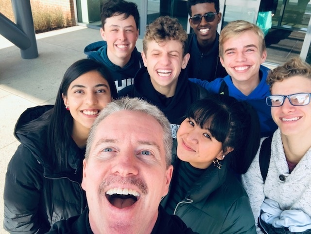 Selfie moment with Vincent O'Brien and Students at OSU Jameson Crane Center.