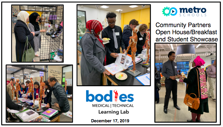 Community Partners, students and parents join to share in the successful semester of the Bodies ECE.